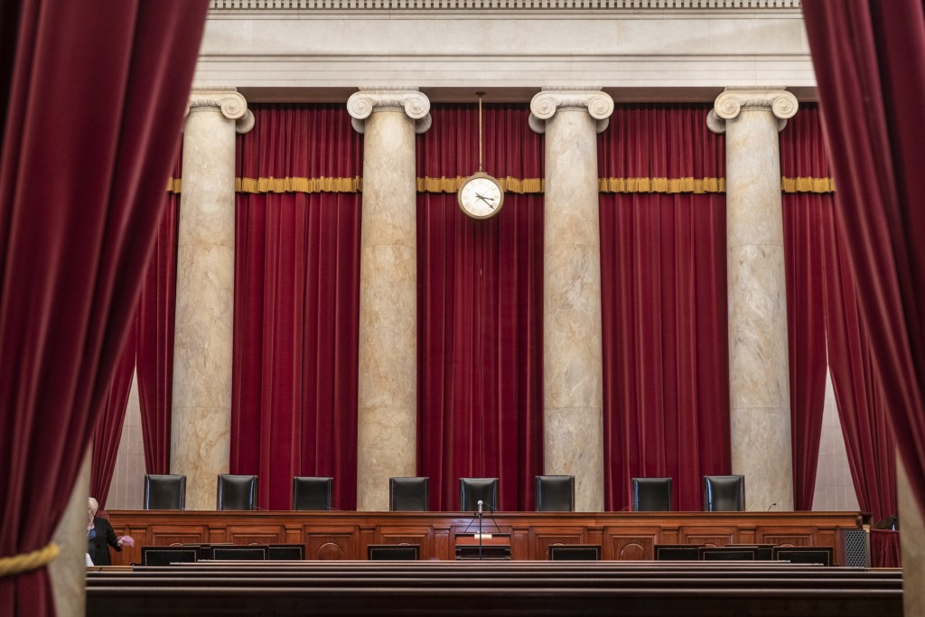 FILE - In this Sept. 21, 2018, file photo, the Supreme Court is seen in Washington. The Supreme Court term has steered clear of drama since the tumult...