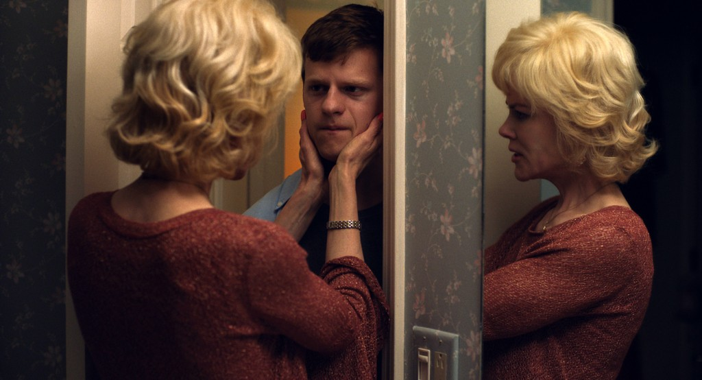 """This image released by Focus Features shows Nicole Kidman, left, and Lucas Hedges in a scene from """"Boy Erased."""" Activists urging more states to ban ga..."""