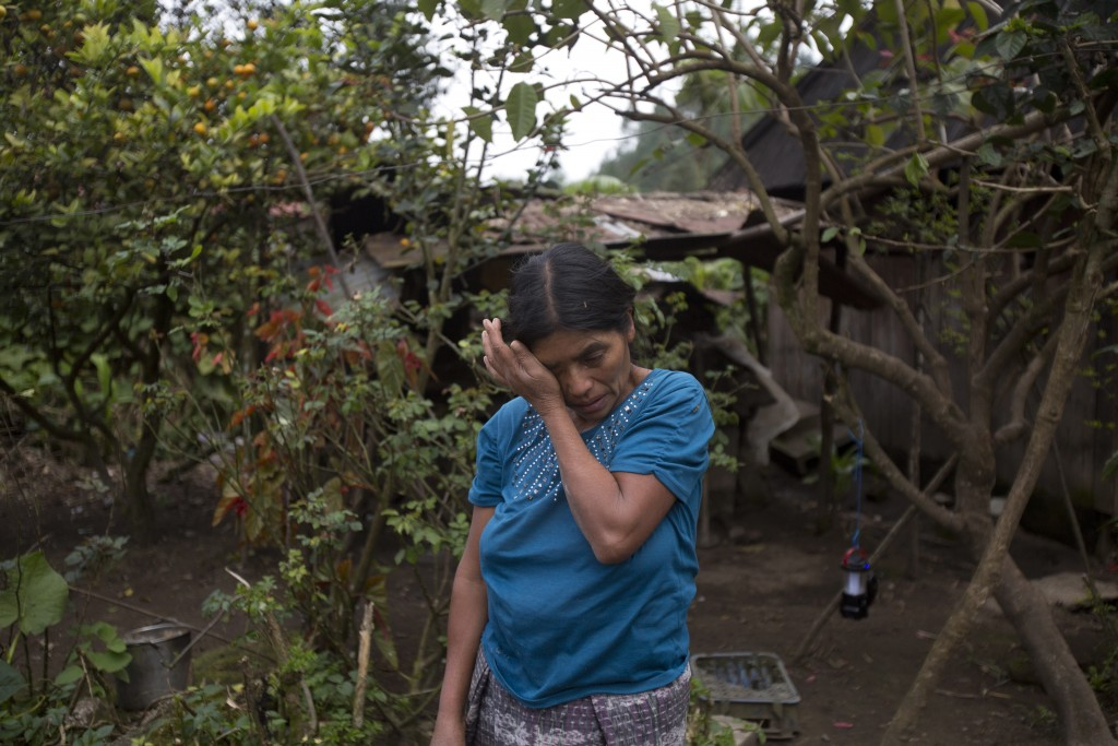 Maria Gomez, aunt of Felipe Gomez Alonzo, an 8-year-old Guatemalan boy who died in U.S. custody, cries as she retells memories of him in Yalambojoch, ...