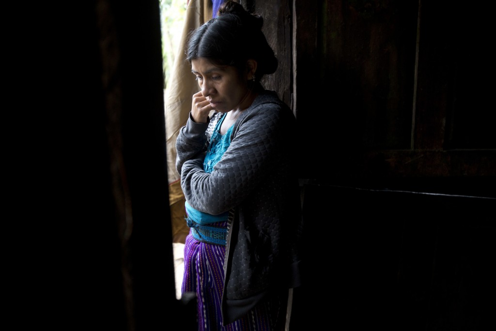 In this Dec. 29, 2018 photo, Catarina Alonzo Perez, the mother of the second Guatemalan child to die in Dec. while in U.S. custody, stands by her kitc...