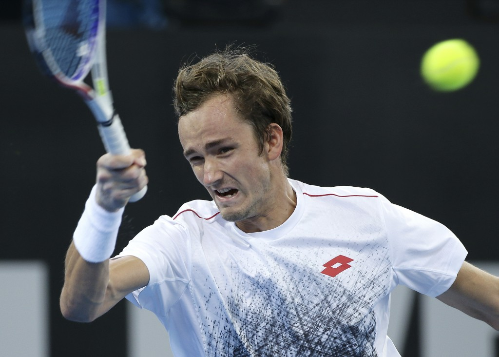 Medvedev ousts Tsonga in Brisbane semi
