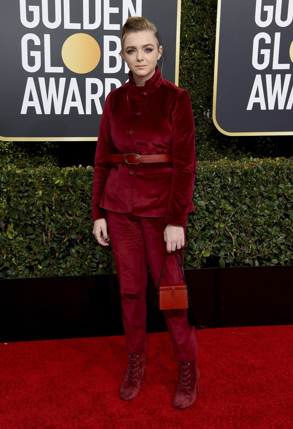 Elsie Fisher arrives at the 76th annual Golden Globe Awards at the Beverly Hilton Hotel on Sunday, Jan. 6, 2019, in Beverly Hills, Calif. (Photo by Jo