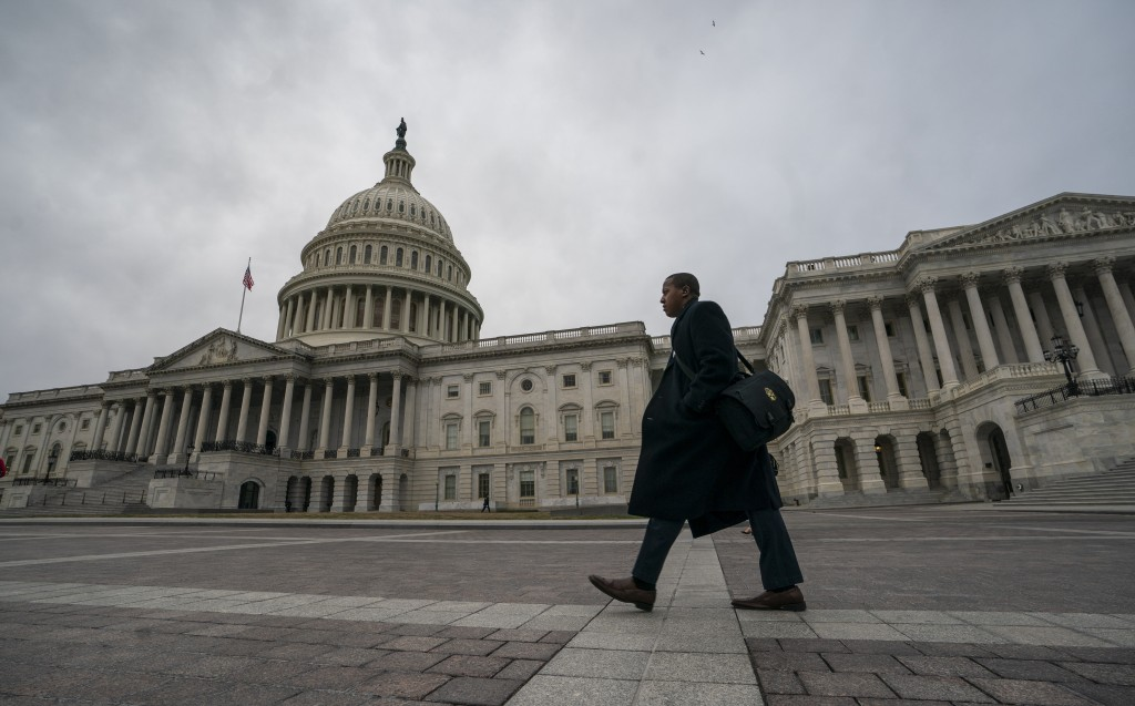The Capitol is seen as the partial government shutdown lurches into a third week with President Donald Trump standing firm in his border wall funding
