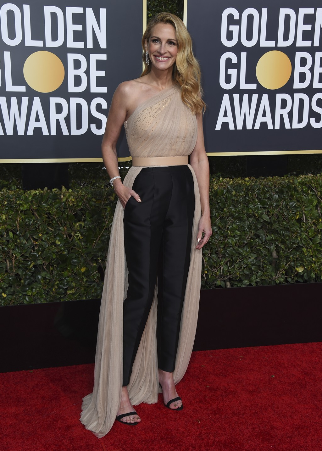 Julia Roberts arrives at the 76th annual Golden Globe Awards at the Beverly Hilton Hotel on Sunday, Jan. 6, 2019, in Beverly Hills, Calif. (Photo by J