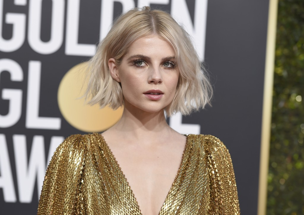 Lucy Boynton arrives at the 76th annual Golden Globe Awards at the Beverly Hilton Hotel on Sunday, Jan. 6, 2019, in Beverly Hills, Calif. (Photo by Jo