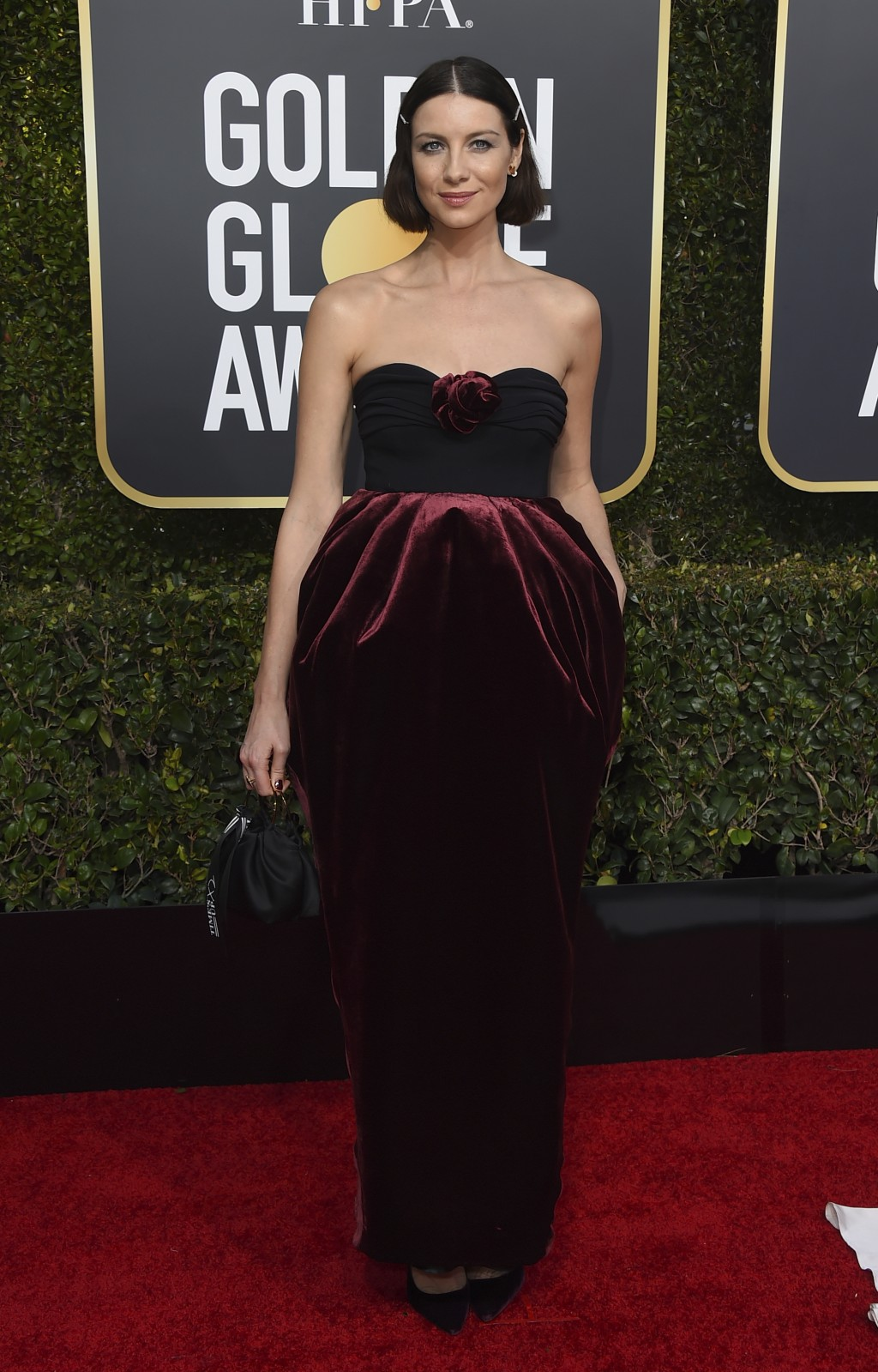 Caitriona Balfe arrives at the 76th annual Golden Globe Awards at the Beverly Hilton Hotel on Sunday, Jan. 6, 2019, in Beverly Hills, Calif. (Photo by