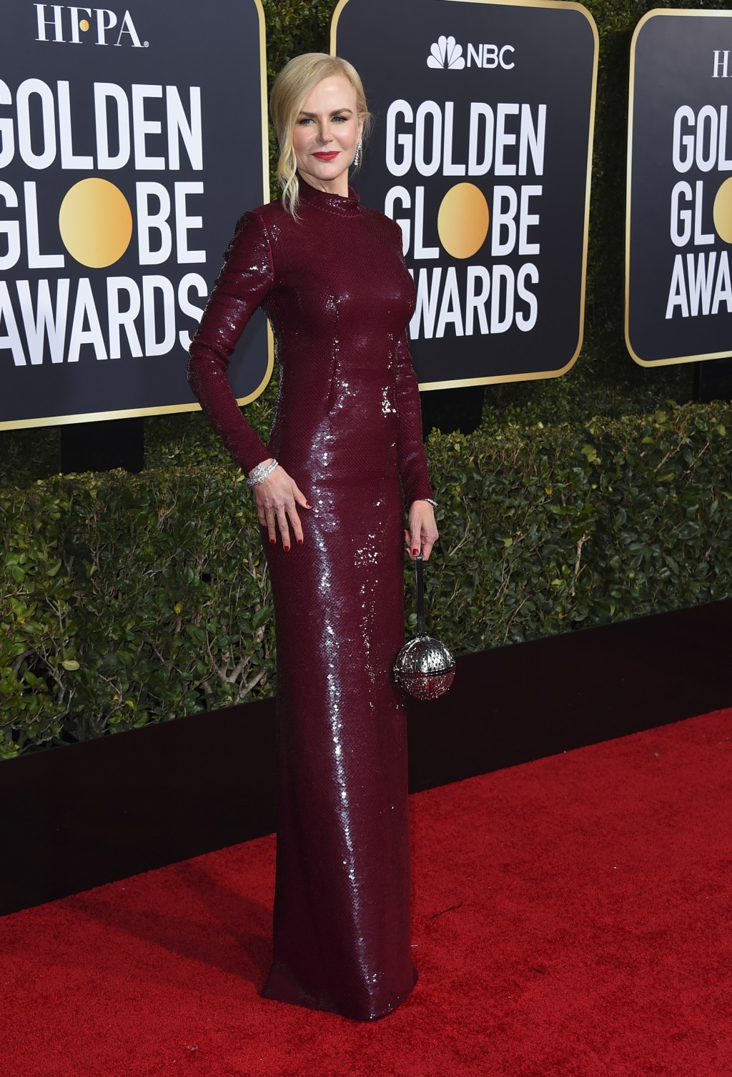 Nicole Kidman arrives at the 76th annual Golden Globe Awards at the Beverly Hilton Hotel on Sunday, Jan. 6, 2019, in Beverly Hills, Calif. (Photo by J