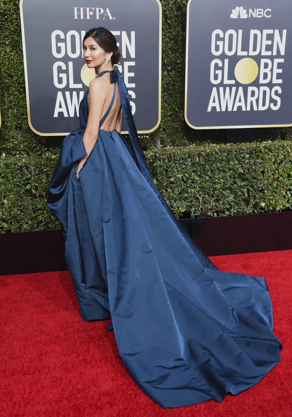 Gemma Chan arrives at the 76th annual Golden Globe Awards at the Beverly Hilton Hotel on Sunday, Jan. 6, 2019, in Beverly Hills, Calif. (Photo by Jord