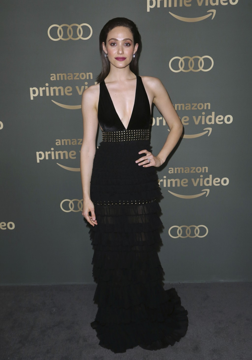 Emmy Rossum arrives at the Amazon Golden Globes afterparty at the Beverly Hilton Hotel on Sunday, Jan. 6, 2019, in Beverly Hills, Calif. (Photo by Wil