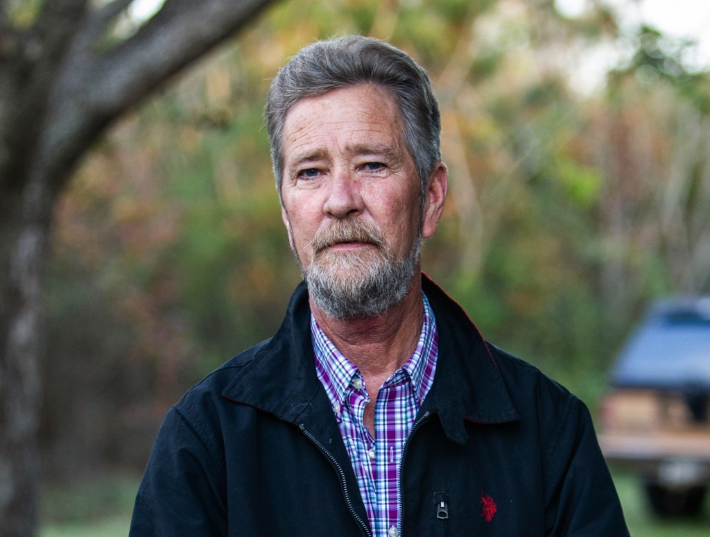 FILE - In this Dec. 5, 2018 photo, Leslie McCrae Dowless Jr. poses for a portrait outside of his home in Bladenboro, N.C. A North Carolina elections i...