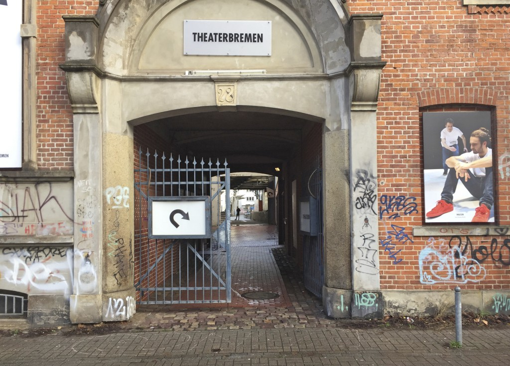 Picture shows the entrance to a theatre where AfD politician Frank Magnitz was attacked Monday evening on Tuesday, Jan.8, 2019. {Helmut Reuter/dpa via