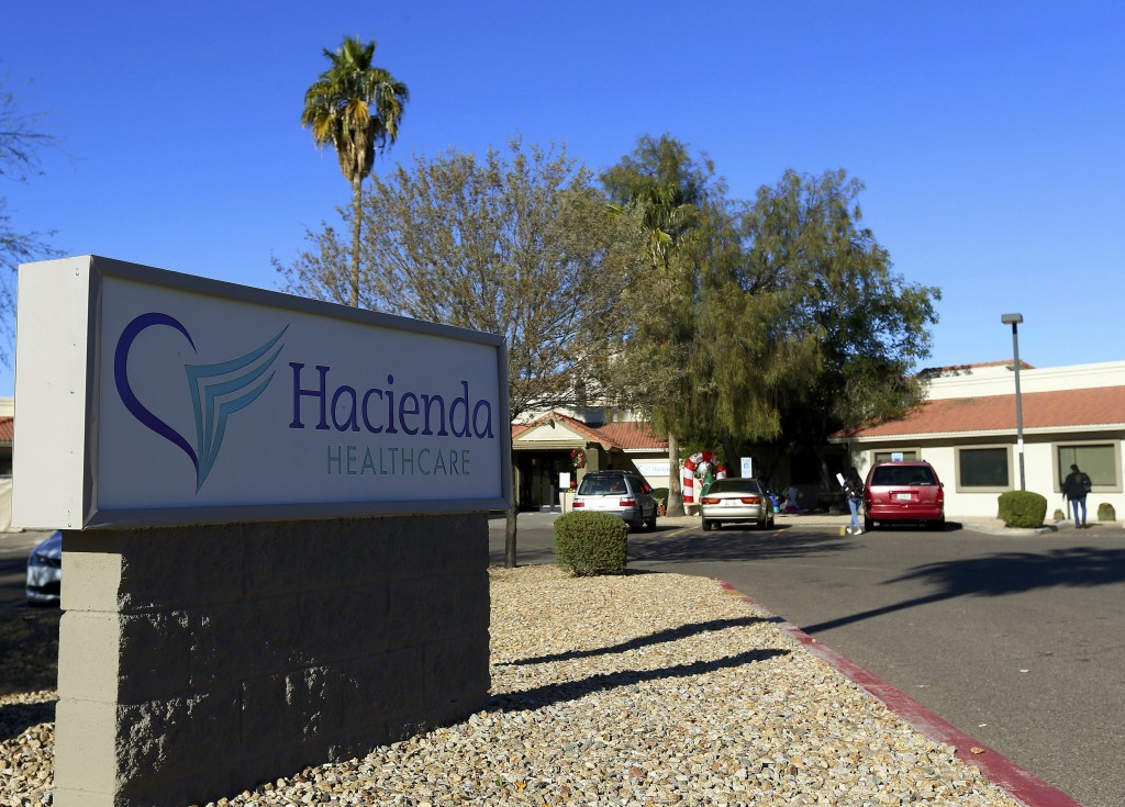 FILE - This Friday, Jan. 4, 2019, file photo shows Hacienda HealthCare in Phoenix. Two doctors who cared for an incapacitated woman who gave birth as
