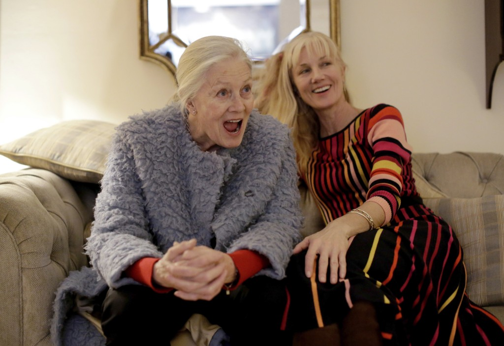 British actresses Vanessa Redgrave and her daughter Joely Richardson pose for portrait photographs before an interview with The Associated Press in Lo...