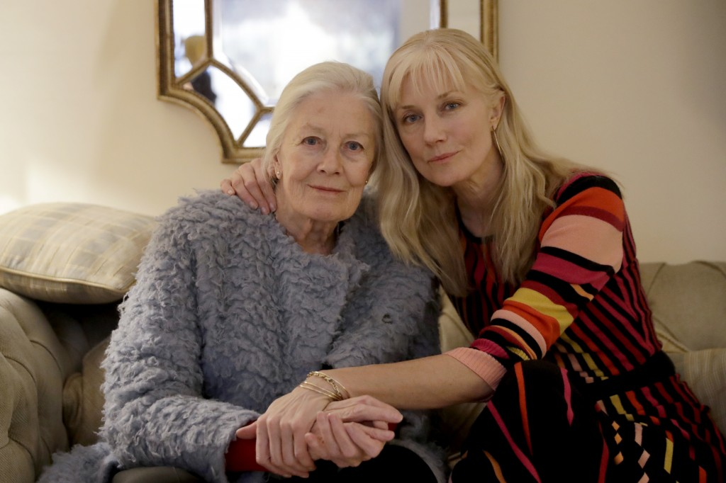 British actresses Vanessa Redgrave and her daughter Joely Richardson pose for portrait photographs before an interview with The Associated Press in Lo