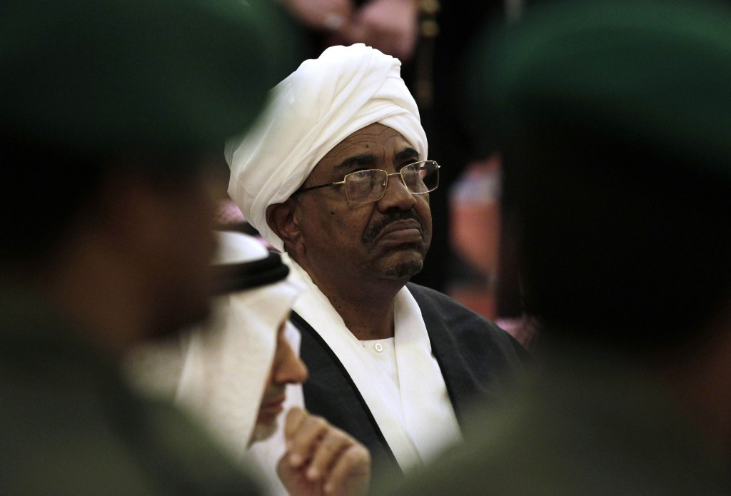 FILE - In this Oct. 25, 2011 file photo, Sudanese President Omar al-Bashir attends the funeral of Saudi Crown Prince Sultan bin Abdul-Aziz Al Saud, in