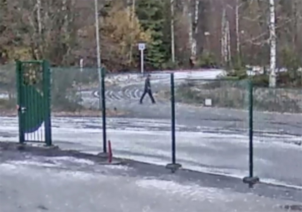 This grab taken from video distributed by the Norwegian police on Thursday, Jan. 10, 2019 shows a pedestrian which the police wants to talk to filmed