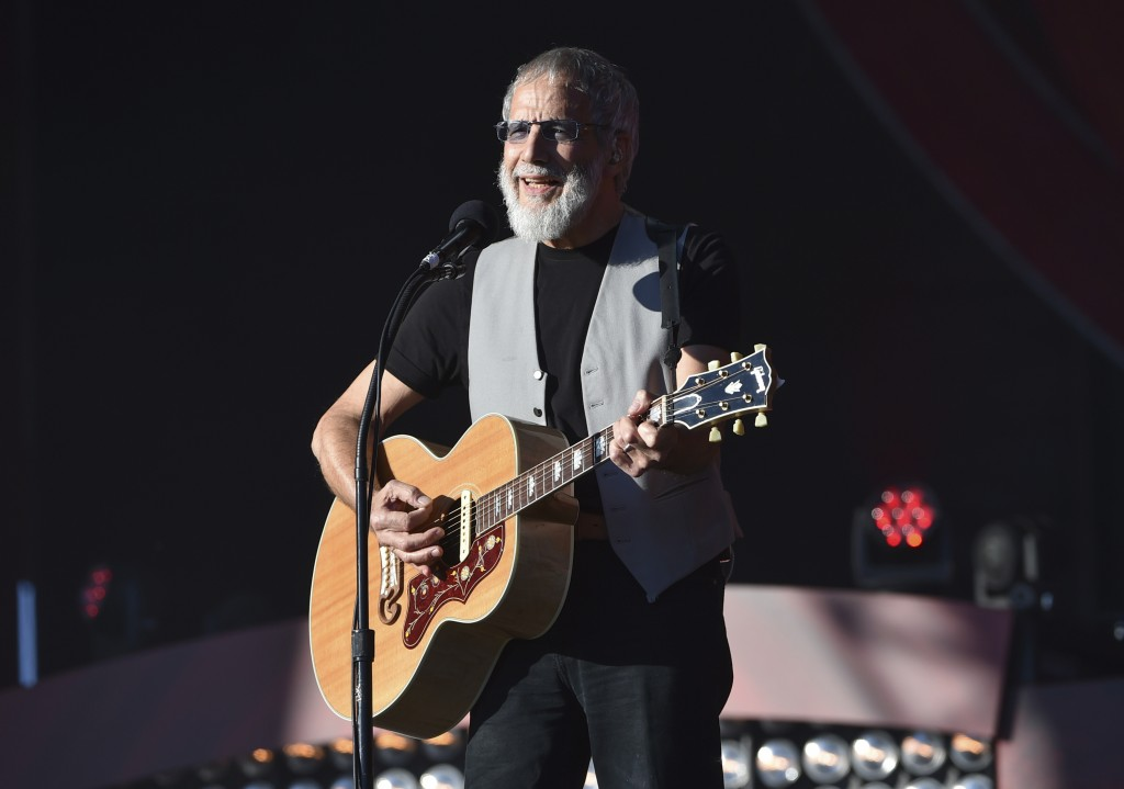 FILE - In this Saturday, Sept. 24, 2016, file photo, musician Yusuf Cat Stevens performs at the 2016 Global Citizen Festival in Central Park in New Yo