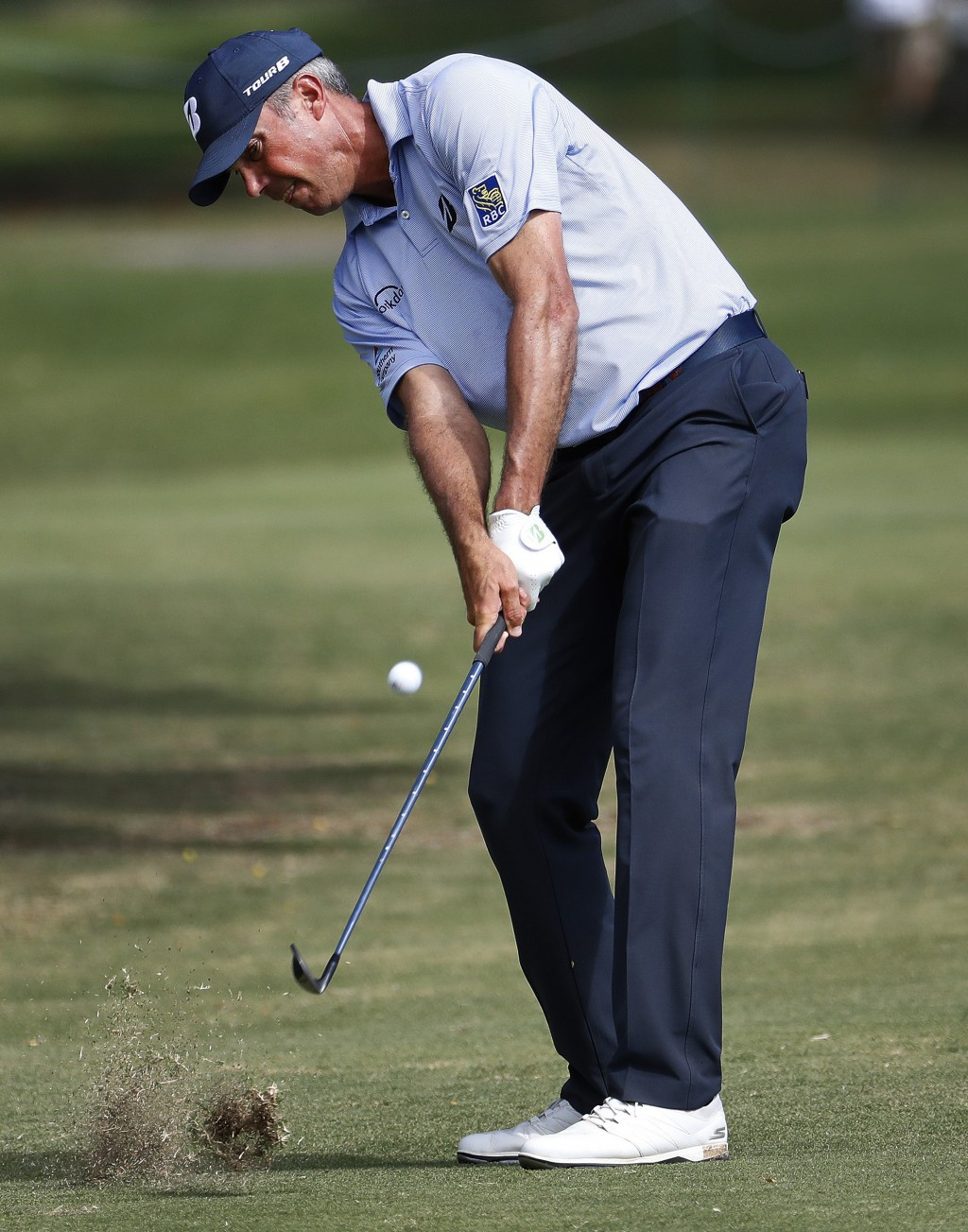 Matt Kuchar hits from the third fairway during the third round of the Sony Open PGA Tour golf event, Saturday, Jan. 12, 2019, at Waialae Country Club ...