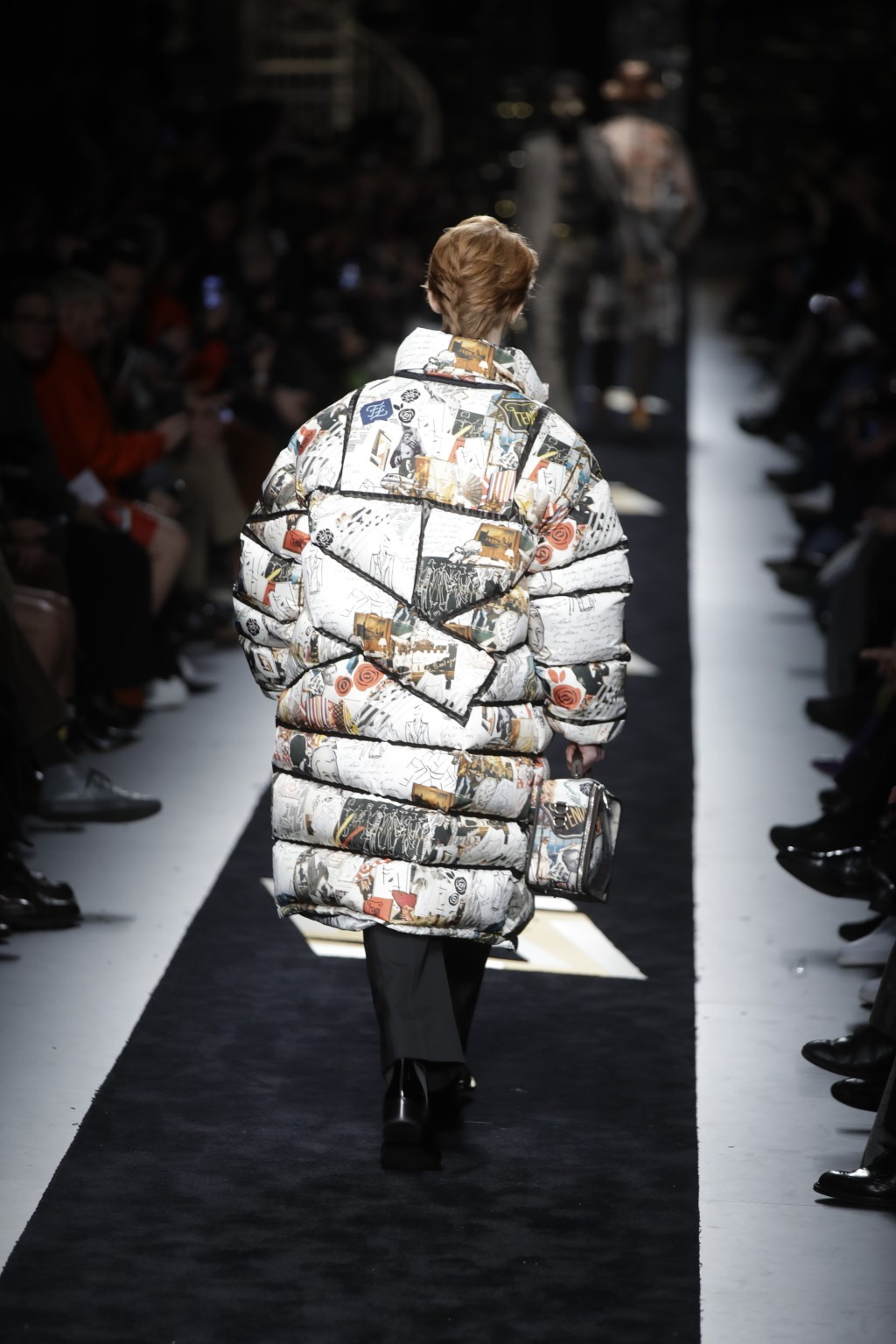 A model wears a creation as part of the Fendi men's Fall-Winter 2019-20 collection, that was presented in Milan, Italy, Monday, Jan.14, 2019. (AP Phot