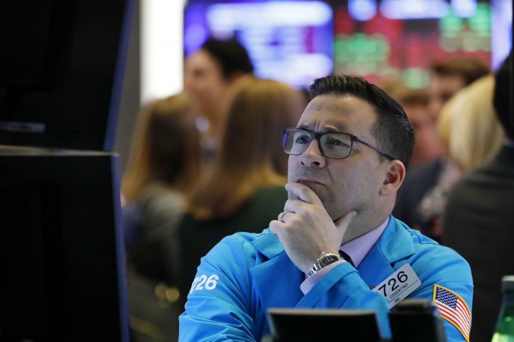 nullFILE- In this Jan. 10, 2019, file photo, specialist Paul Cosentino works on the floor of the New York Stock Exchange. The U.S. stock market opens