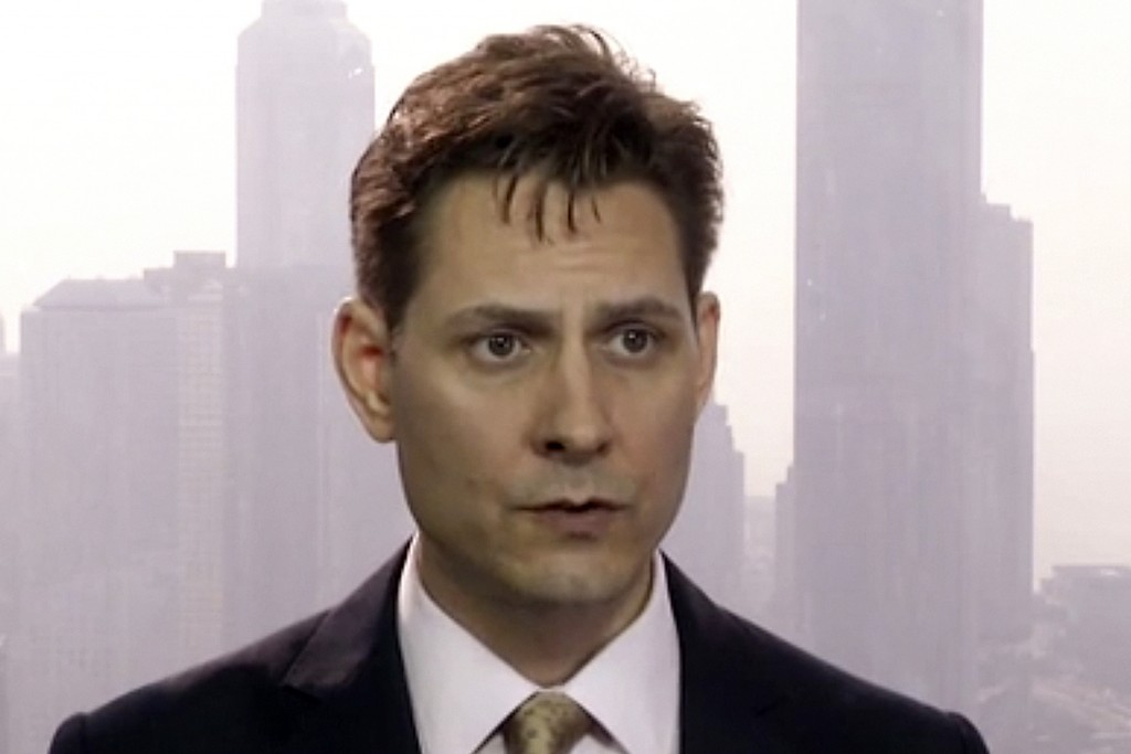 FILE - In this file image made from a video taken on March 28, 2018, Michael Kovrig, an adviser with the International Crisis Group, a Brussels-based