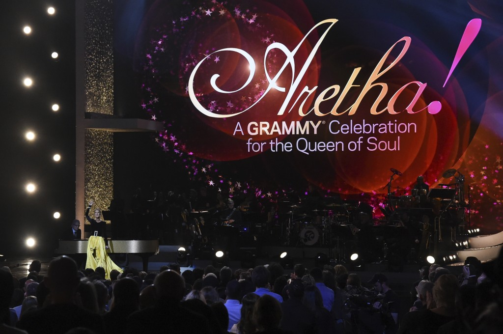 """Celine Dion performs at the """"Aretha! A Grammy Celebration For The Queen Of Soul"""" event at the Shrine Auditorium on Sunday, January 13, 2019, in Los An"""