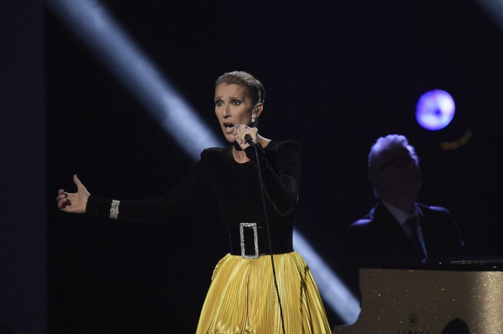 """Celine Dion performs at the """"Aretha! A Grammy Celebration For The Queen Of Soul"""" event at the Shrine Auditorium on Sunday, Jan. 13, 2019, in Los Angel"""