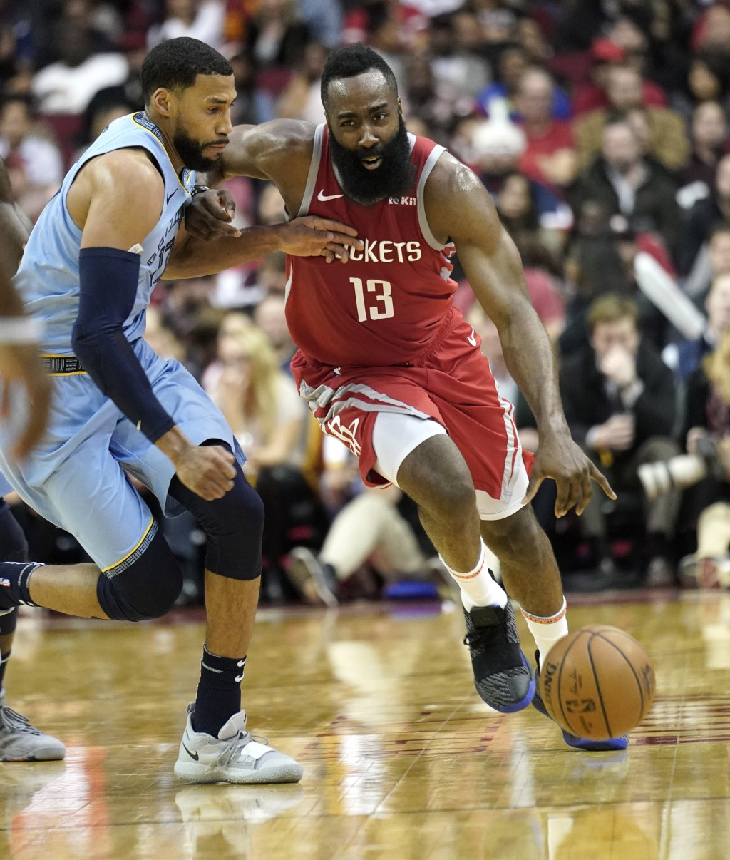 Harden's 57 points lead Rockets over Grizzlie...   Taiwan News