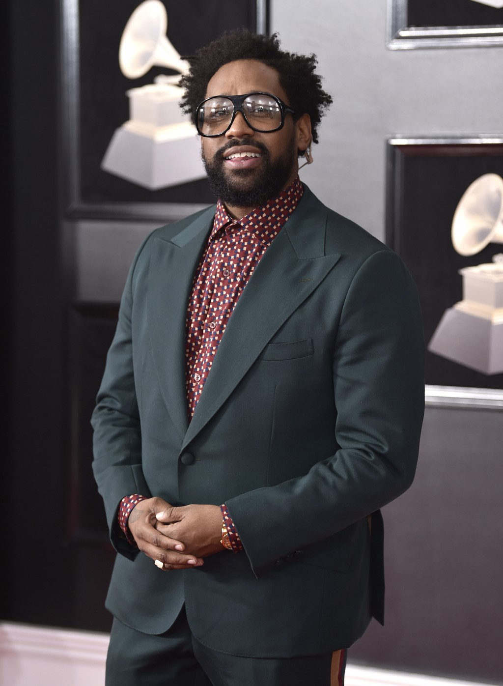 FILE - In this Jan. 28, 2018 file photo, PJ Morton of Maroon 5 arrives at the 60th annual Grammy Awards in New York. Morton is set to perform at next