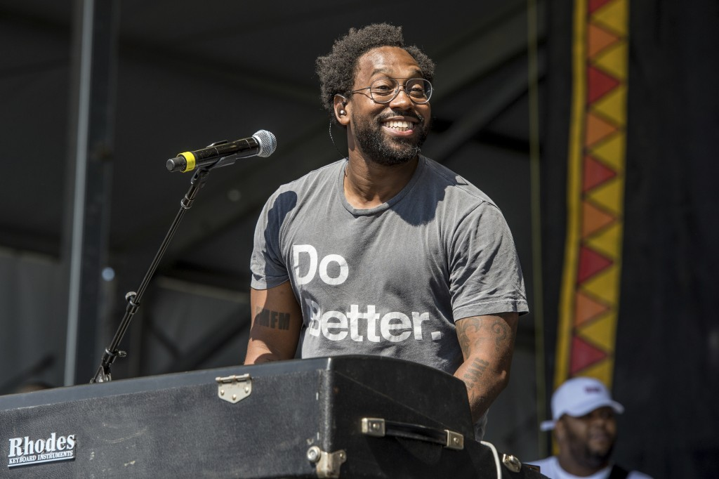 FILE - In this May 5, 2017 file photo, PJ Morton performs at the New Orleans Jazz and Heritage Festival in New Orleans. Morton is set to perform at ne