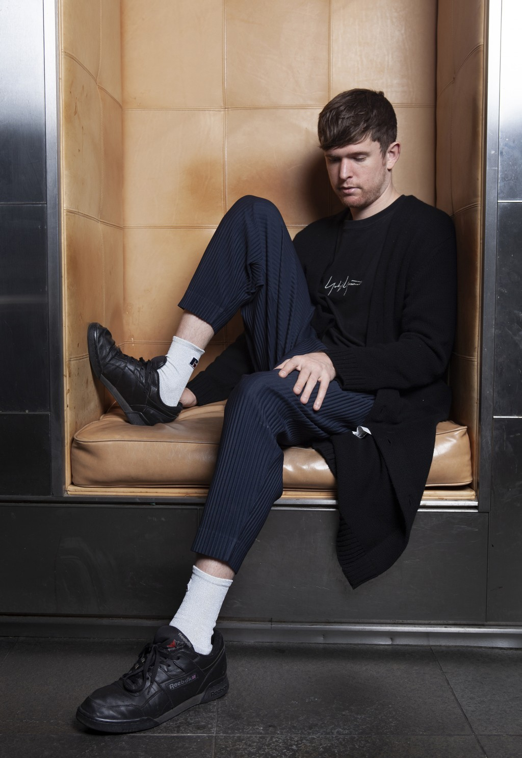 """This Jan. 16, 2019 photo shows James Blake posing for a portrait at the SLS Hotel in Los Angeles to promote his latest album """"Assume Form."""" (Photo by"""