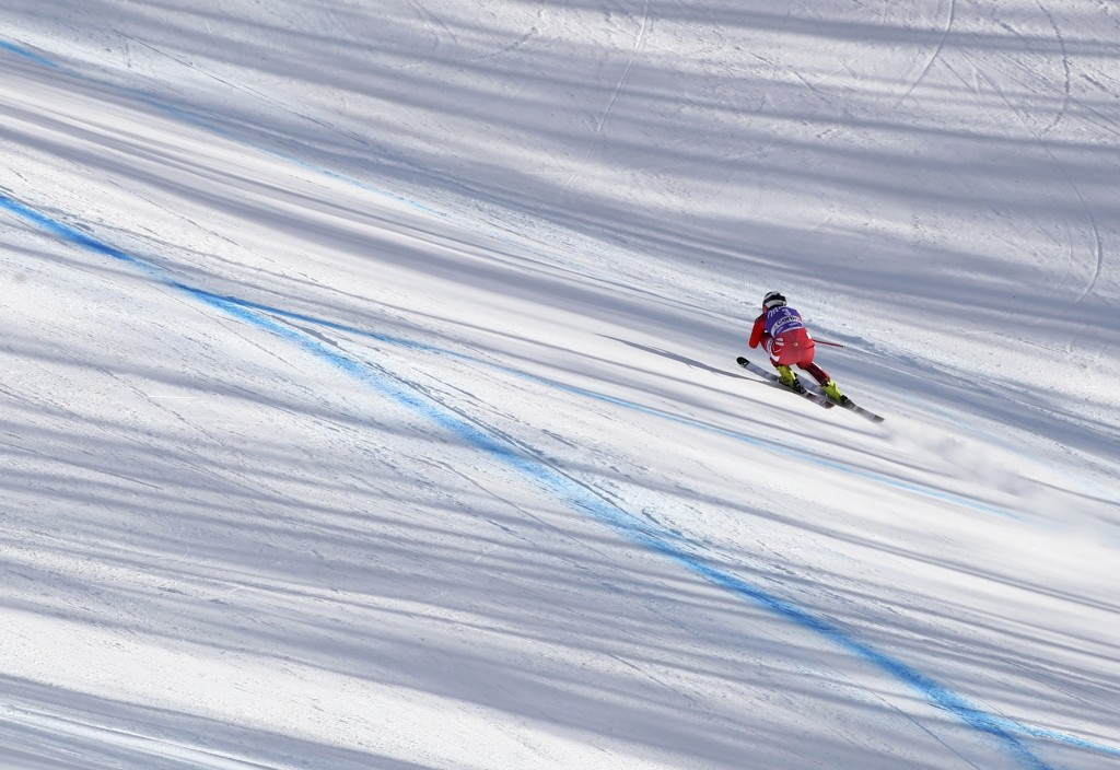 Austria's Ramona Siebenhofer competes during an alpine ski, women's World Cup downhill in Cortina D'Ampezzo, Italy, Saturday, Jan. 19, 2019. (AP Photo
