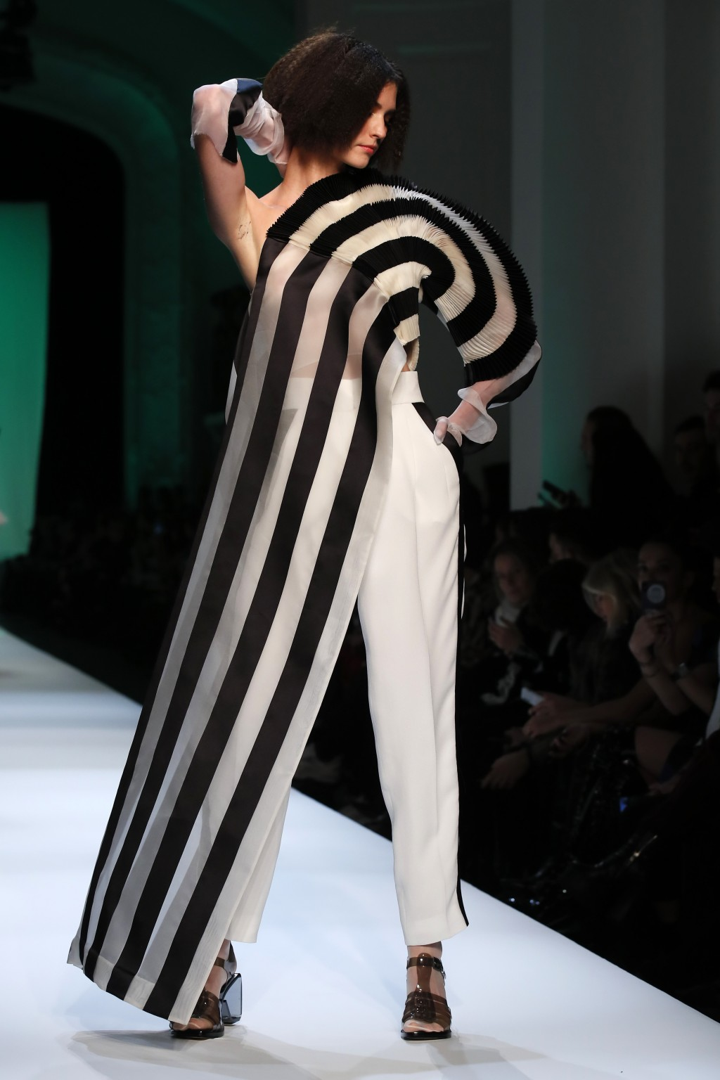 A model wears a creation for Jean-Paul Gaultier's Spring/Summer 2019 Haute Couture fashion collection presented in Paris, Wednesday Jan.23, 2019. (AP ...