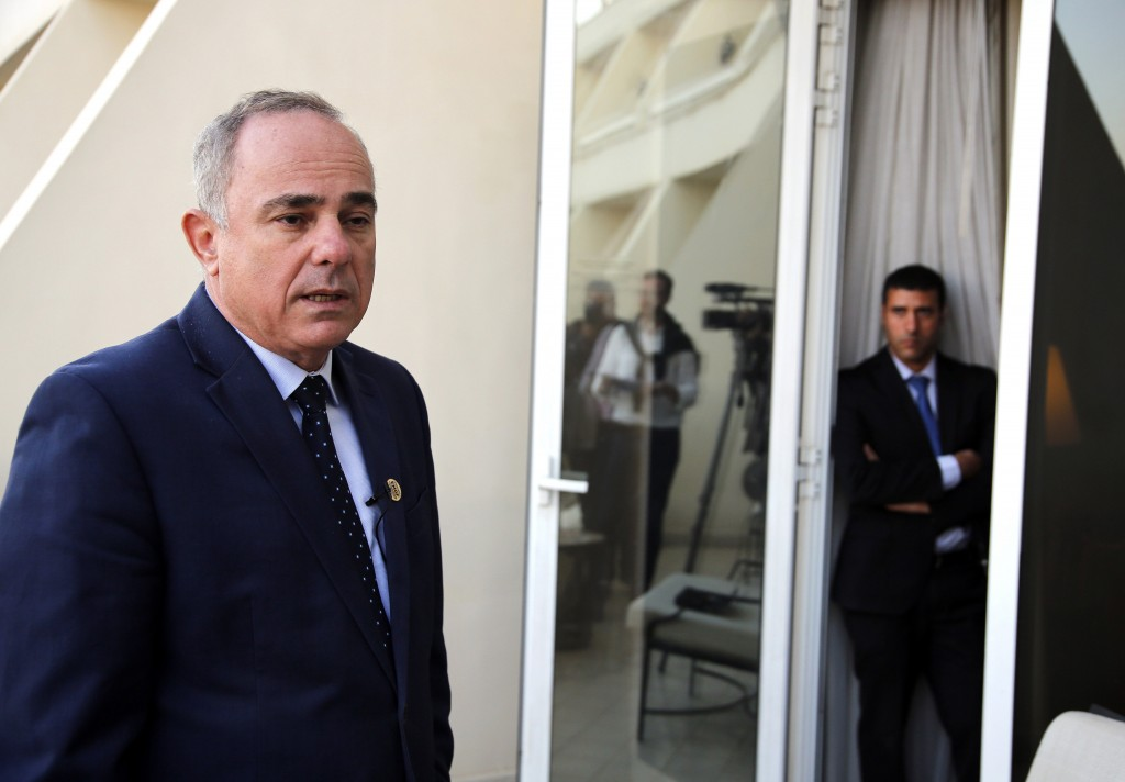 FILE - In this Monday, Jan. 14, 2019 file photo, Israel Energy Minister Yuval Steinitz, speaks during an interview with The Associated Press, in Cairo