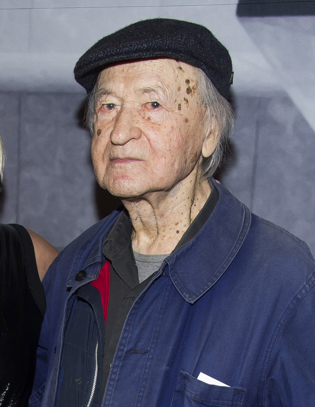 FILE - In this Nov. 19, 2014 file photo, Lithuanian-born director Jonas Mekas attend the Whitney Museum Gala in New York. Mekas, 96, who survived a Na