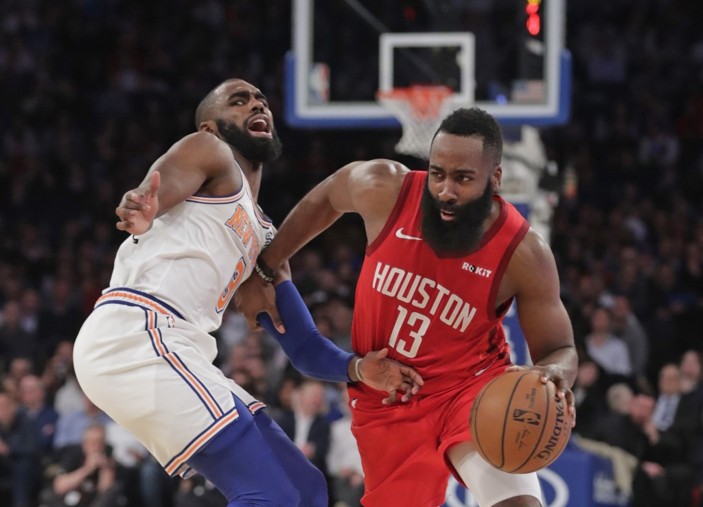 James Harden drops 61 points as Rockets top Knicks