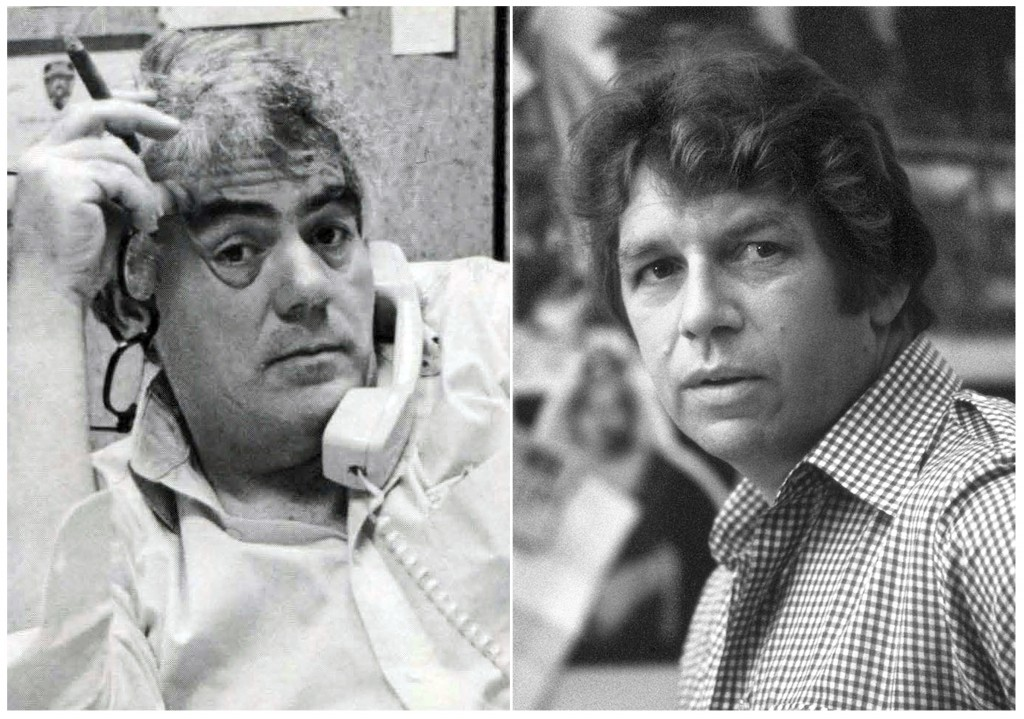 """This combination photo of images released by HBO shows journalists Jimmy Breslin, left, and Pete Hamill who are the focus of the HBO documentary """"Bres..."""