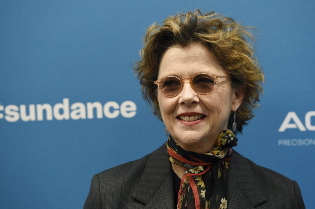 """Annette Bening, a cast member in """"The Report,"""" poses at the premiere of the film during the 2019 Sundance Film Festival, Saturday, Jan. 26, 2019, in P..."""