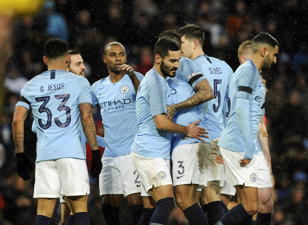 Manchester City rout Burnley in FA Cup