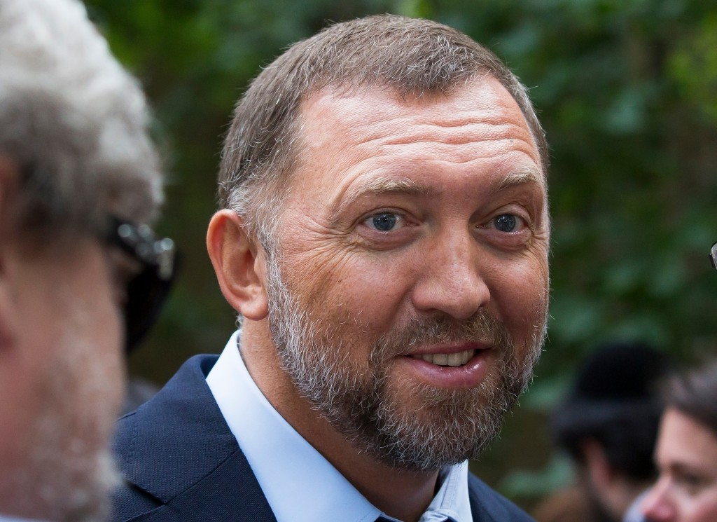 FILE- In this July 2, 2015, file photo, Russian metals magnate Oleg Deripaska attends Independence Day celebrations at Spaso House, the residence of t...
