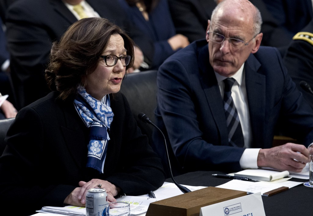 CIA Director Gina Haspel accompanied by Director of National Intelligence Daniel Coats testifies before the Senate Intelligence Committee on Capitol H...
