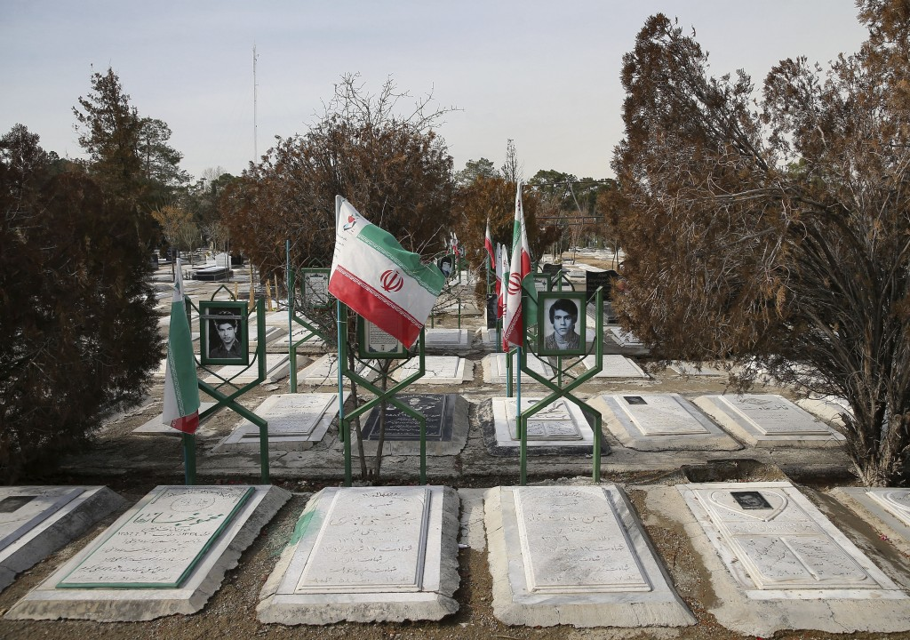In this Saturday, Jan. 19, 2019, photo, the graves of revolutionaries who were killed during 1979 Islamic Revolution, shown at Behesht-e-Zahra cemeter