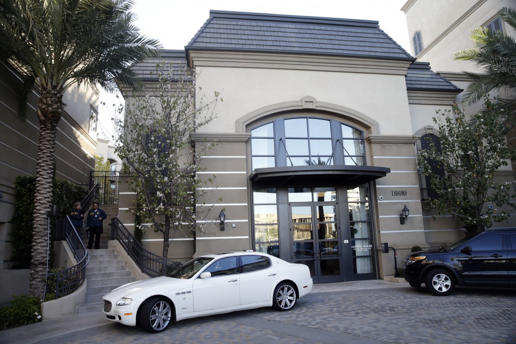 FILE - This March 3, 2015 file photo shows an upscale apartment complex where authorities say a birth tourism business charged pregnant women $50,000 ...
