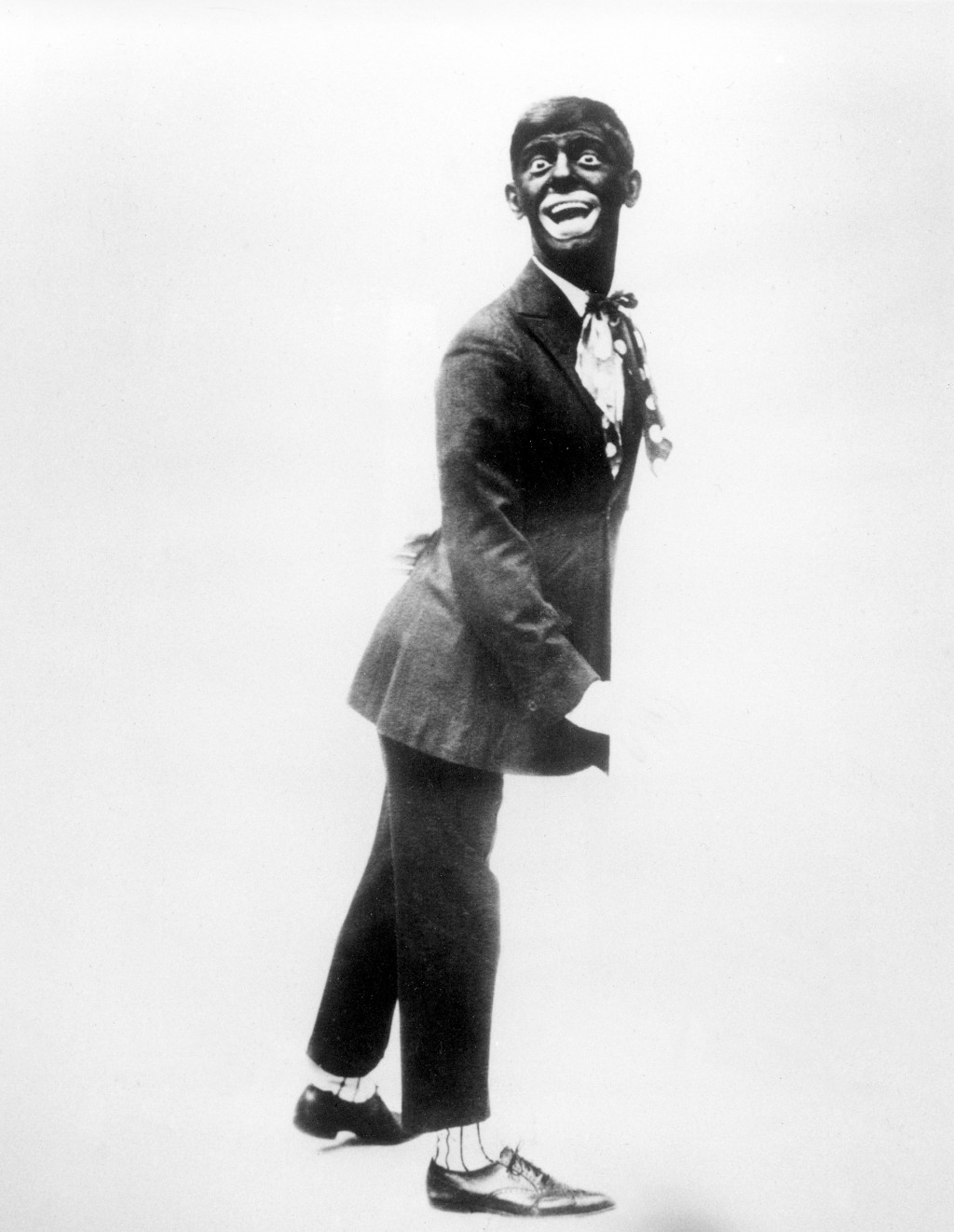 """FILE - This 1920s image shows comedian Eddie Cantor wearing blackface while performing """"If You Knew Susie."""" Blackface minstrelsy is considered by some..."""