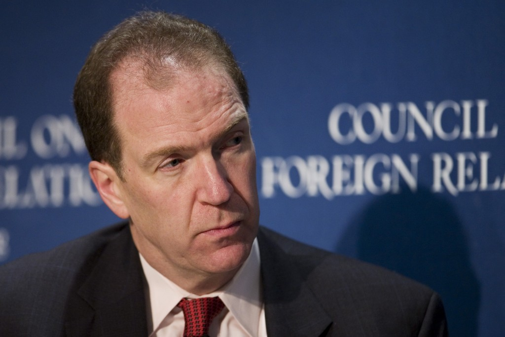 FILE - In this 2007 file photo, David Malpass, then the Chief Economist at Bear, Stearns & Co. Inc., speaks at the Council on Foreign Relations in New