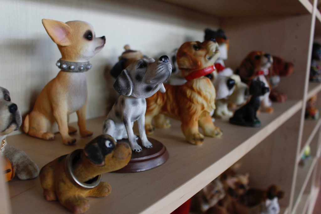 In this Jan. 8, 2019 photo, dog bobbleheads are displayed at the National Bobblehead Hall of Fame and Museum in Milwaukee. The new museum is displayin