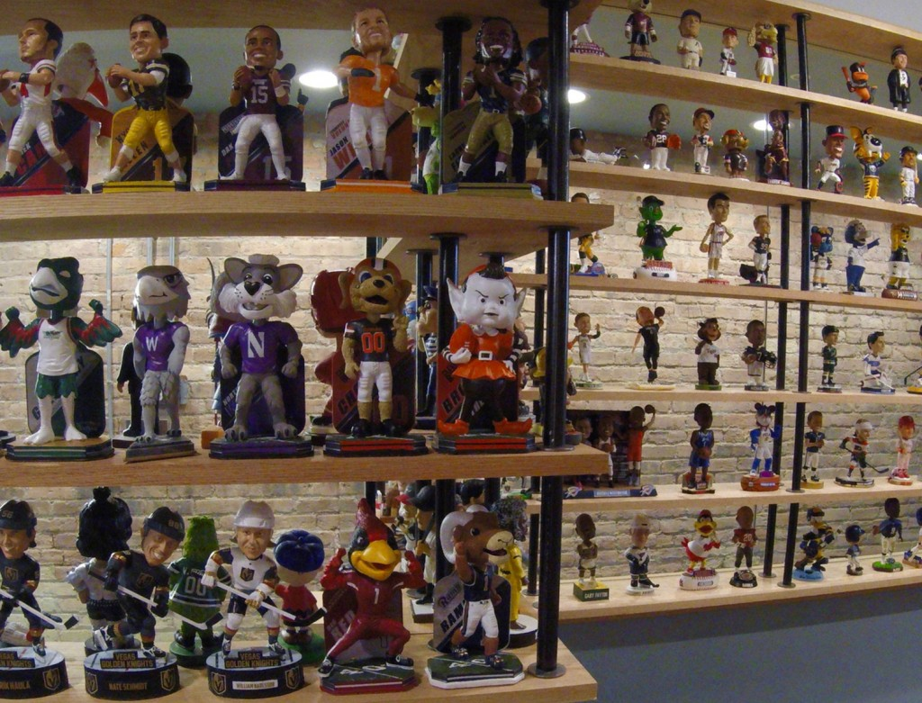 In this Jan. 8, 2019 photo bobbleheads are on display at the National Bobblehead Hall of Fame and Museum in Milwaukee. The new museum may well hold th