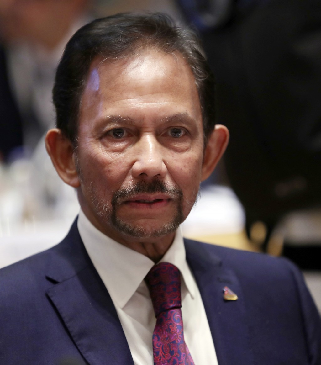 FILE - In this Oct. 18, 2018, file photo, Brunei's Sultan Hassanal Bolkiah attends a round table meeting at the ASEM 12 in Brussels. Southeast Asia's ...