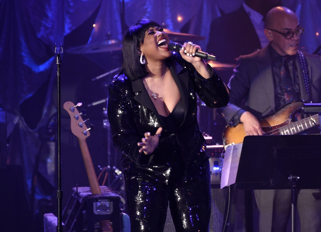 Jazmine Sullivan performs at the Pre-Grammy Gala And Salute To Industry Icons at the Beverly Hilton Hotel on Saturday, Feb. 9, 2019, in Beverly Hills,