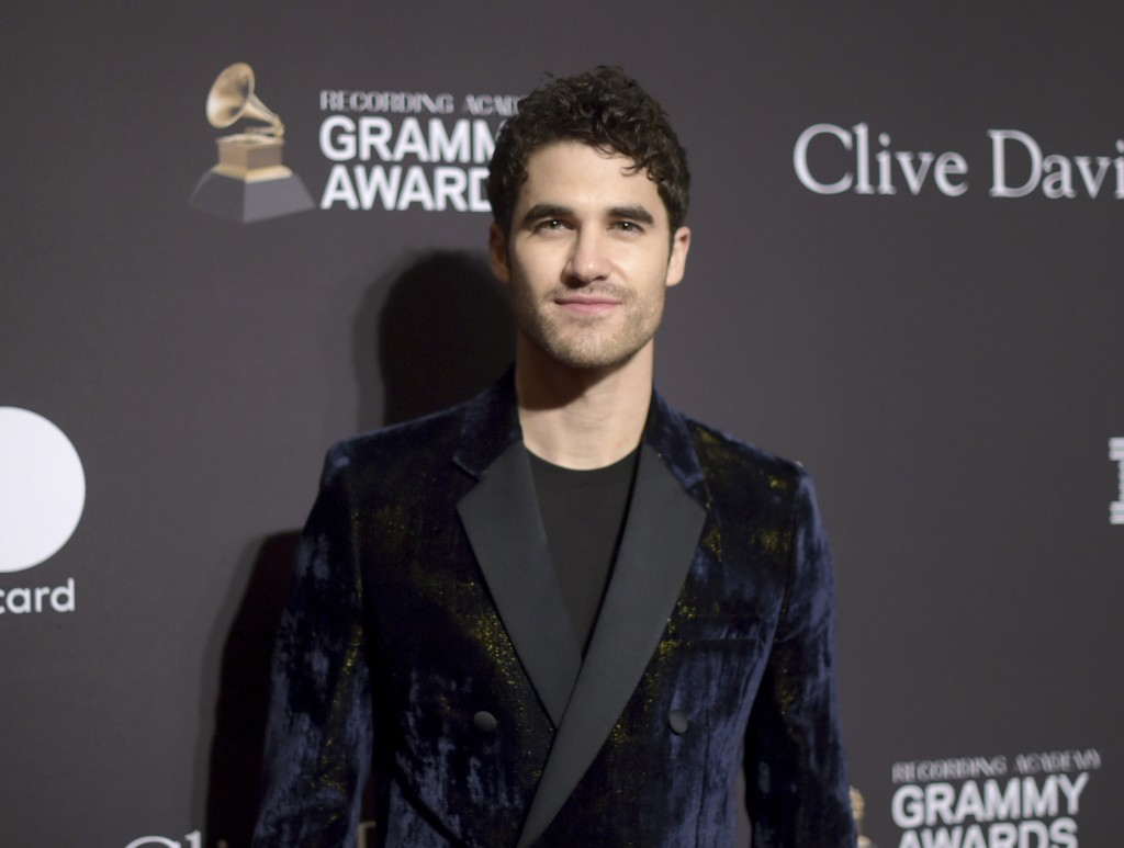 Darren Criss arrives at the Pre-Grammy Gala And Salute To Industry Icons at the Beverly Hilton Hotel on Saturday, Feb. 9, 2019, in Beverly Hills, Cali